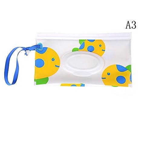 5Pcs Wet Wipe Pouch, Travel Wipes Case Reusable Refillable Wet Wipe Bag Travel Wipes Dispenser Wipe Pouches Baby Wet Wipe Portable Travel Cases yunyong