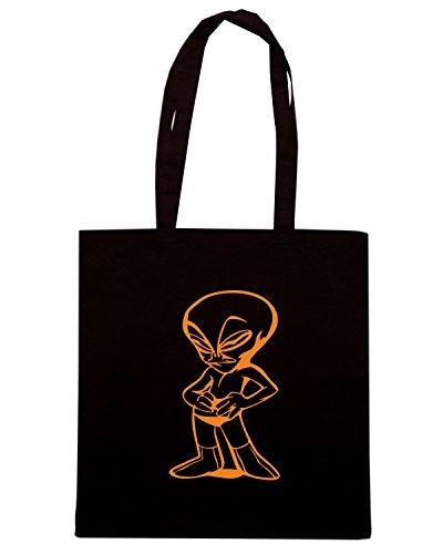 T-Shirtshock - Bolsa para la compra FUN0544 alien decal 22 60325 Negro