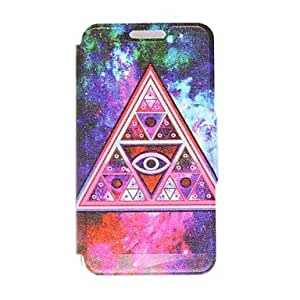 SOL Kinston Weird Triangle Pattern PU Leather Full Body Case with Stand for Samsung Galaxy S5 I9600
