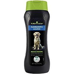 Furminator DeShedding Ultra Premium Champú para Perro para Reducir el desprendimiento, 16-Oz