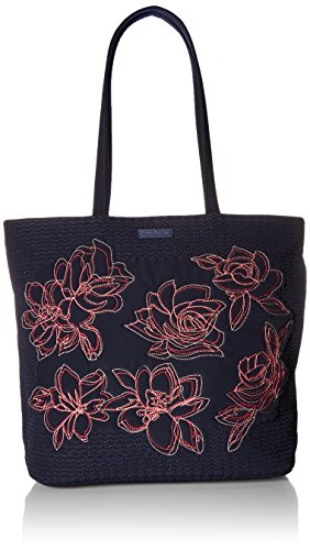 Vera Bradley Iconic Tote Vera, Classic Navy Embroidered ()