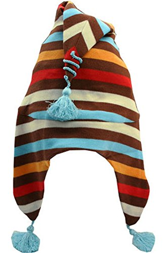 Infant 5 Color Chocolate Stripe Elf Hat by Zutano, 24 months