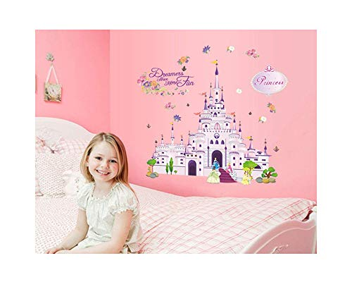 Cartoon Princess Castle Pattern DIY PVC Vinyl Wall Stickers Children's Room Bedroom Living Room Decor Mural adesivo de parede Home Decoration (style 9)