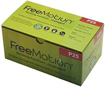 FREEMOTION 2500 mAh Battery Power Recliner Rechargeable Battery Pack, for Sofa Battery, Sectional Battery, Furniture Battery, with Power Supply