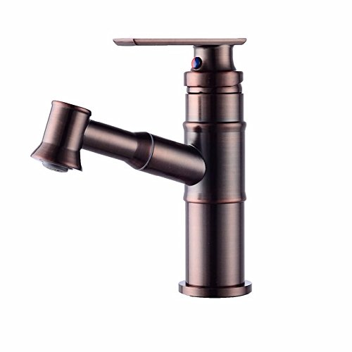 HQLCX-Basin Sink Mixer Tap Orb Drawing Type Water Faucet American Cold And Hot Hot Basin Faucet Telescopic Tap by HQLCX-Basin Sink Mixer Tap