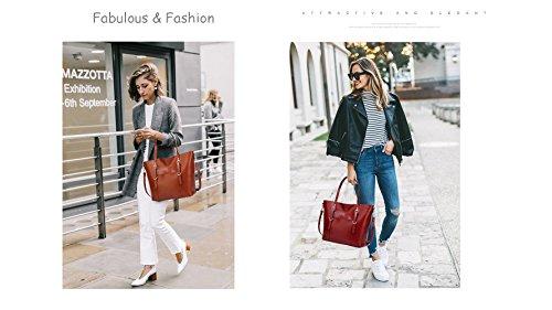 Handbag for Women Soft PU Leather Top Handle Satchel Clutch Purse Shoulder Bags for Lady by Jeniulet (Image #6)