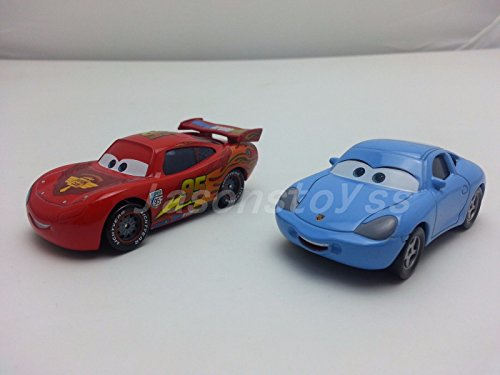 Lightning Mcqueen And Sally Costumes (Car Toys Pixar 1:55 Scale Diecast 2 Lightning McQueen & Sally Metal Toy and Car Collectors)