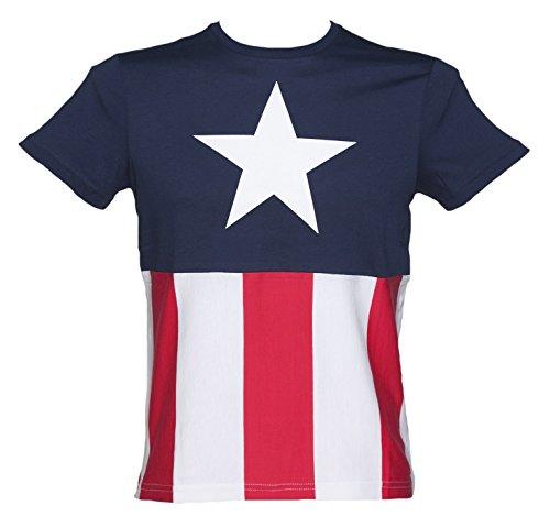 Mens Captain America Marvel Costume T Shirt