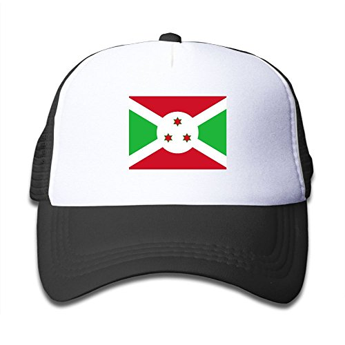 nice Futong Huaxia Flag Of Burundi Boy & Girl Grid Baseball Caps Adjustable sunshade Hat For Children get discount