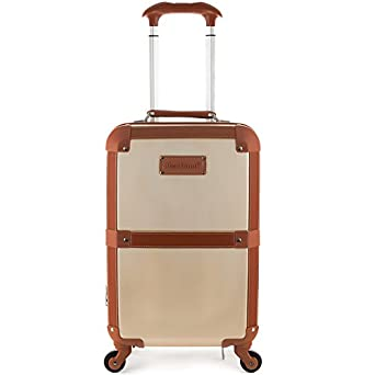 Amazon.com | Rockland Stage Coach 20 Inch Rolling Trunk, Champagne ...