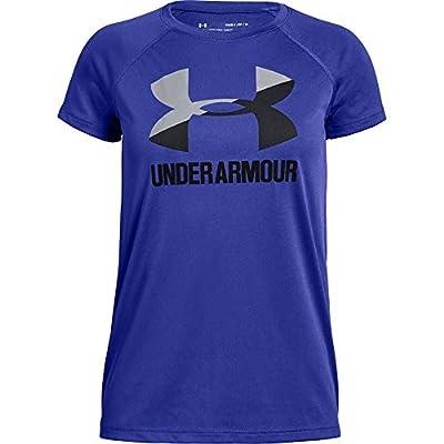 Under Armour Girls Big Logo Tee Solid Short Sleeve Shirt