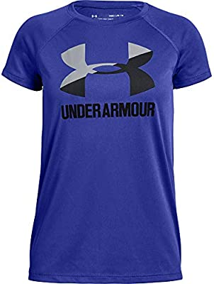 Under Armour Childrens Big Logo Tee Solid Short-Sleeve Shirt