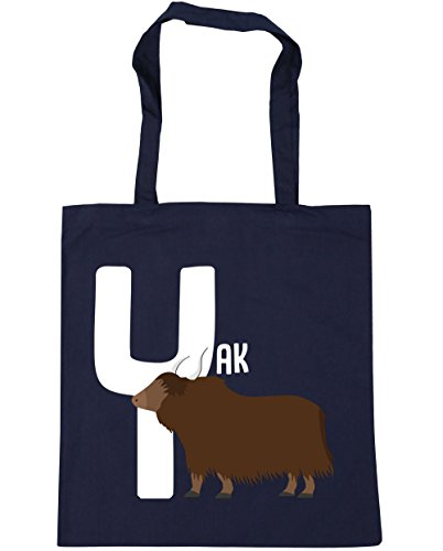 yak French Y Beach 10 is Bag Gym Tote for Navy x38cm alphabet litres HippoWarehouse Shopping animal 42cm ntTgHTx