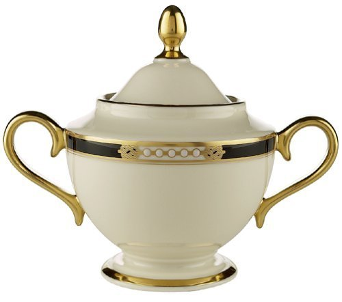 Lenox Hancock Gold-Banded Fine China Sugar Bowl with Lid by ()