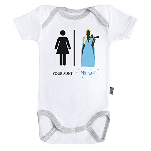 (Super family - My aunt bodysuit / onesie short sleeves - 100% cotton - Baby Geek (6-12M))