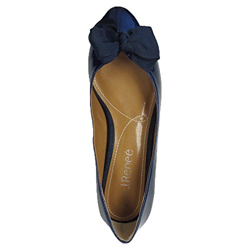 Cameo Pumps Closed Navy Renee Classic synthetic J Toe Womens EUqT11wH