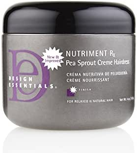 Design Essentials Nutriment Rx w/Pea Sprout, Daily Moisturizing Creme Hairdress for Weak, Damaged Hair from Thermal Styling or Chemical Treatments-4oz.