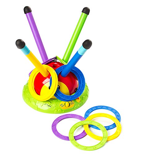 Fat Brain Toys 2 in 1 Musical Jump 'n Toss - 2-in-1 Musical Jump 'n Toss Active Play for Ages 4 to 6
