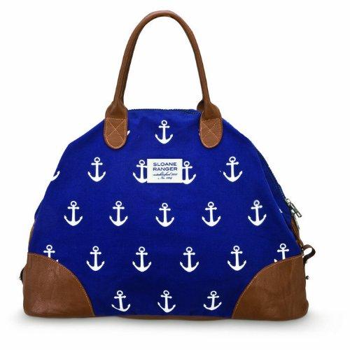 sloane-ranger-anchor-print-canvas-weekender-bag-navy-blue-white-vegan
