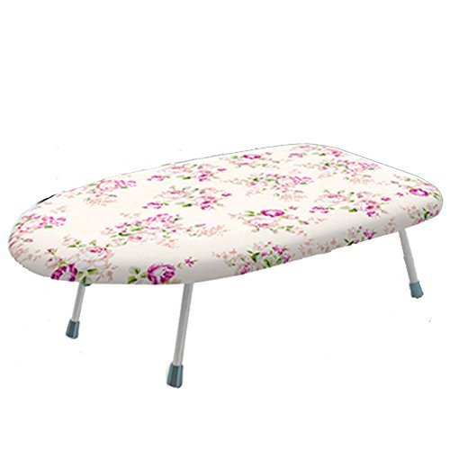 Cestlafit Mini Tabletop Ironing Board with Folding Legs,Folding Ironing Board with Cotton Cover,Flower by Cestlafit