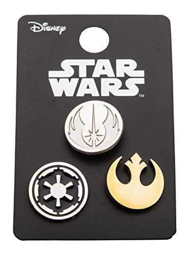 Concentio, Inc. Star Wars Pin Pack: Rebel Alliance, Jedi Order, and Galactic Empire Cut Out