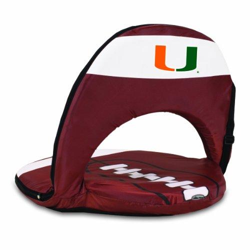 UPC 099967230483, NCAA Miami Hurricanes Oniva Portable Football Reclining Sport Seat