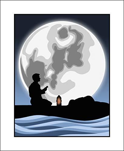 Plaid Design Joe Versus The Volcano/Moon (Tom Hanks) Pop Art - 18x22 - Signed/Numbered Limited Edition Giclée/Fine Art Print/Poster/Artwork by John Lathrop - Ed Hand Numbered Fine Art