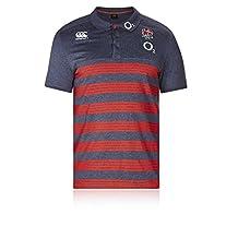 2017-2018 England Rugby Cotton Stripe Polo Shirt (Nine Iron)