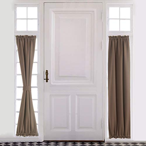 French Colonial Door - Aquazolax Plain Blackout Curtains Thermal Insulated for French Doors - Single Panel, 25