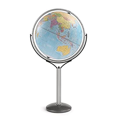 Zoffoli Globes USA Magellano Floor Globe, 24-Inch, Blue Ocean: Home & Kitchen