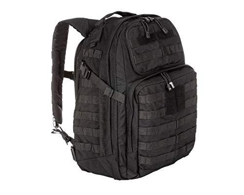 5.11 Tactical RUSH24 Military Backpack, Molle Bag Rucksack Pack, 37 Liter Medium, Black, Style 58601