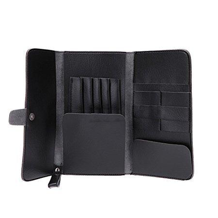 Anself Hair Scissor Bag Pro Leather Scissors Waist - Hair Scissors Case
