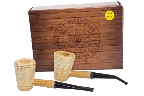 Missouri Meerschaum Mark Twain 2-Corncob Pipe Gift Set by Missouri Meerschaum