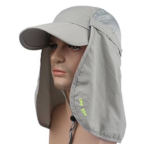 Dukars Fishing Hats Unisex Outdoor Sun Protection Fishing Cap Face & Neck Flap Hunting Hiking Garden Work