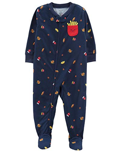 Carter's Baby Boys' 1-Piece Snug Fit Cotton Pajamas (18 Months, French Fry) by Carter's