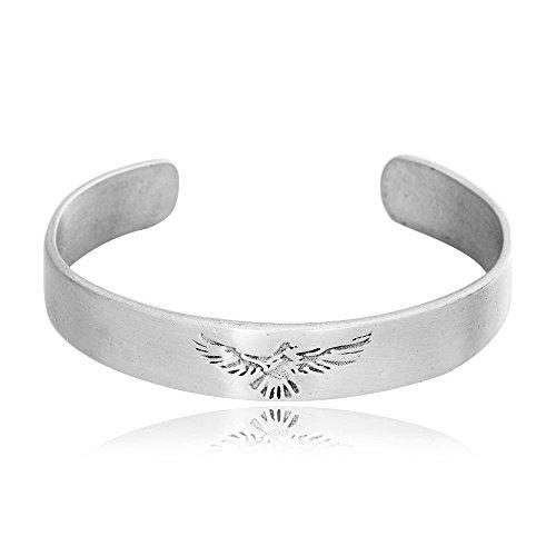 Pewter Fashion Jewelry - Dan's Jewelers Classic Phoenix Bird Firebird Bracelet, Fine Pewter Jewelry