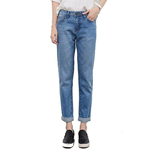 Skinny Dunland Dchirs dans Skinny Denim Pantalons Jeans dtresse Stretch dcontract Jeans Femme Clair en Retrousser Bleu wIrq1wHa