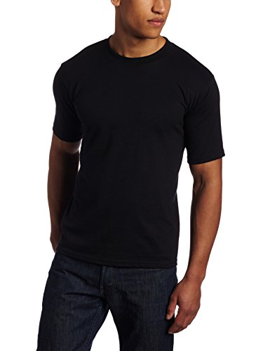 Soffe Men's Short Sleeve Crew Neck  T-Shirt Black Large