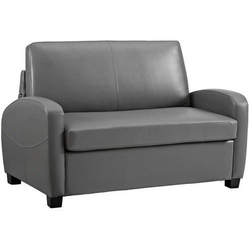 Sofá cama plegable futón, hecho de piel sintética, se ...