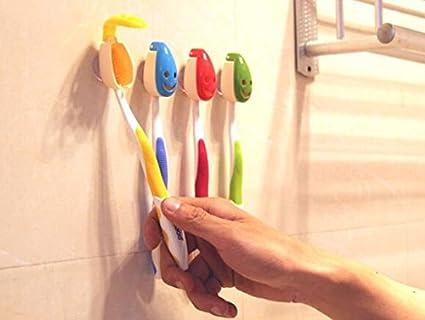 Soporte para cepillos de dientes con Ventosa Sucker ganchos EJY de dibujo de accesorios para el