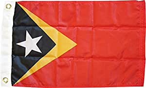 """East Timor - 12"""" x 18"""" Nylon World Flag"""