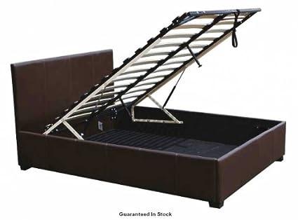 Super 4Ft6 Double Faux Leather Ottoman Bed Frame Creativecarmelina Interior Chair Design Creativecarmelinacom