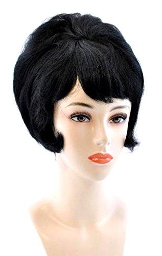 Alicia Beehive Wig in Black -
