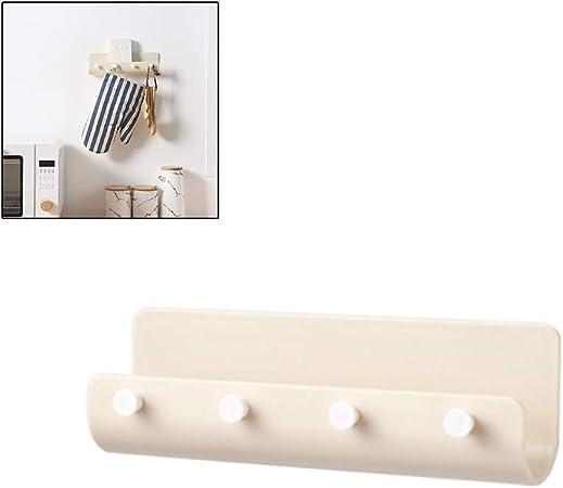 1 soporte para llaves de plástico ABS autoadhesivo para colgar en la pared, organizador de 4 ganchos para colgar en la pared: Amazon.es: Bricolaje y herramientas