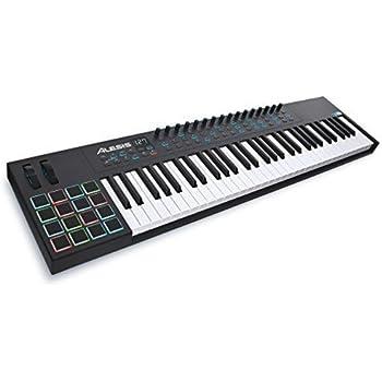 Alesis VI61 | Advanced 61-Key USB MIDI Keyboard & Drum Pad Controller (16 Pads / 16 Knobs / 48 Buttons)