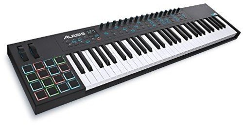 Alesis VI61 | Advanced 61-Key USB MIDI Keyboard & Drum Pad Controller (16 Pads / 16 Knobs / 48 Buttons)