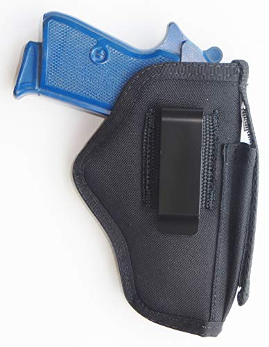 Inside Pants IWB Holster with Extra Mag Pouch for Walther PPK,PPK/s,Bersa Thunder,Makarov 380 (Right)