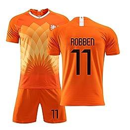 Jersey for enfants adultes Football - Jersey néerlandaise, Équipe nationale Le nouvel uniforme 11 Football Costume Robben Uniforme de formation des hommes et impression enfants respirant et séchage ra