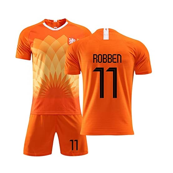 Jersey for enfants adultes Football - Jersey néerlandaise, Équipe nationale Le nouvel uniforme 11 Football Costume Robben Uniforme de formation des hommes et impression enfants respirant et séchage ra