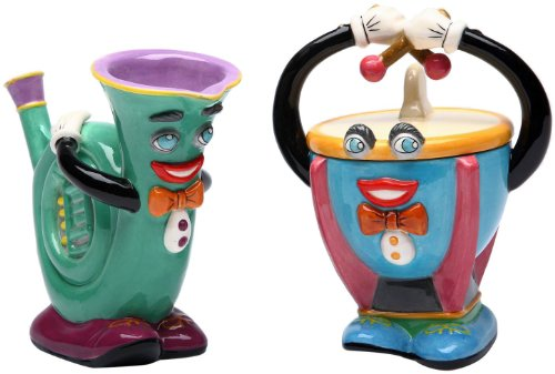 Appletree Design Timpani and French Horn Sugar and Creamer Set, 5-1/8-Inch, 4-3/4-Inch (Whimsical Tea Sets)